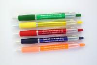 Bolígrafos personalizados zonet impresos con tinta plateada