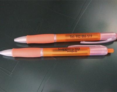 Bolígrafos publicidad personalizados en dos posiciones