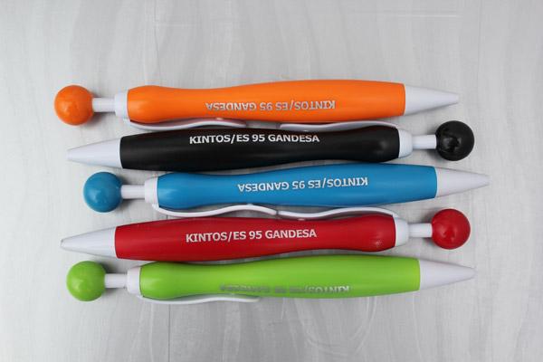 Bolígrafos publicitarios personalizados Gallery, tampografía en tinta plata