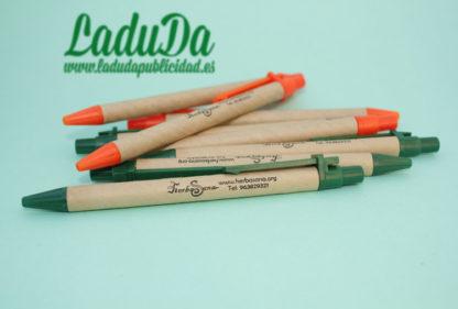 Bolígrafos ecológicos de cartón reciclado personalizados