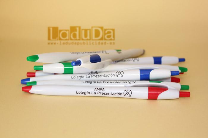 Bolígrafos personalizados Finball para AMPA Colegio La Presentación