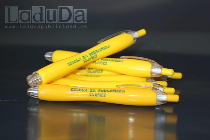 Bolígrafos Pixel personalizados para Escola Sa Forcanera Blanes