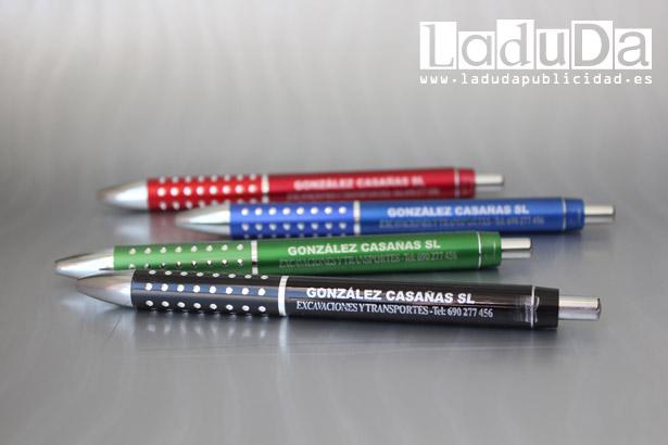 Bolígrafos publicitarios olimpia personalizados en tinta plata