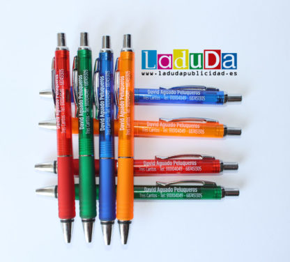 Boligrafos de regalo Kolder personalizados para David Aguado Peluqueros