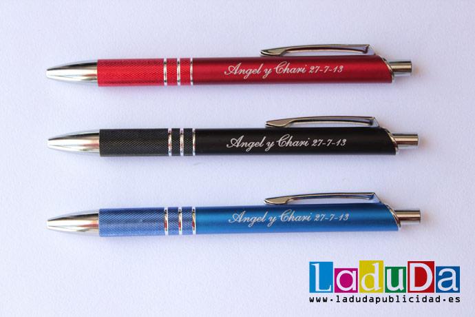 Bolígrafos Lane personalizados para regalo a los invitados de boda