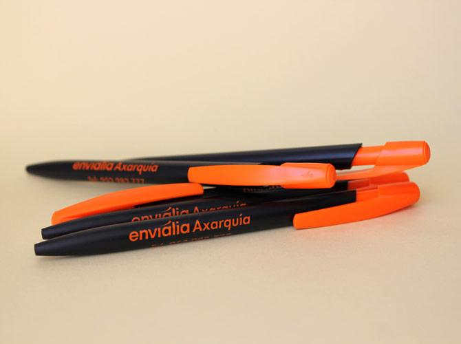 Boligrafos BIC media clic personalizados para Envialia Axarquia