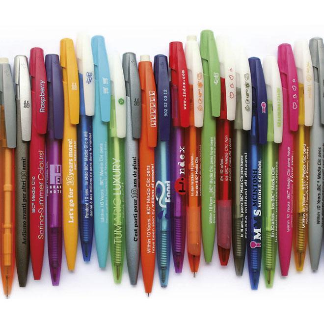 Bolígrafos Bic Media Clic personalizados, más de 6.000 combinaciones de colores