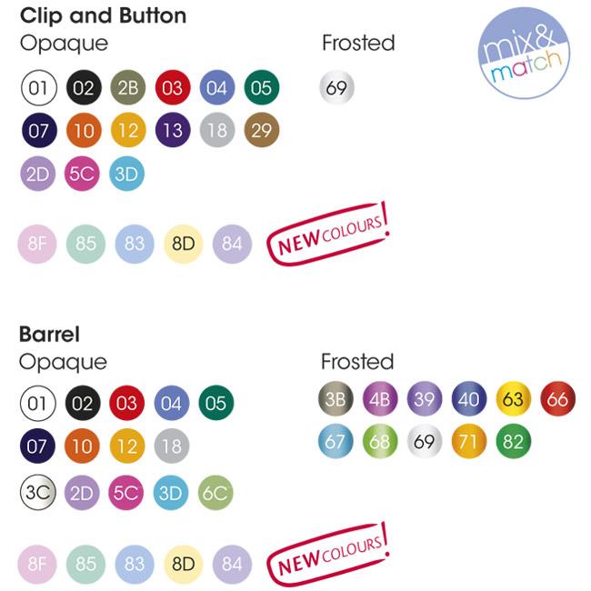 Colores componentes bolígrafo BIC Media Clic