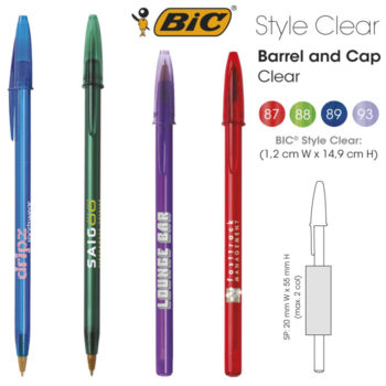 Bolígrafo promocional BIC Style Clear
