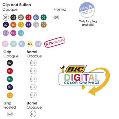 Colores Bolígrafos BIC Media Clic Grip Digital