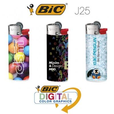 Mecheros BIC J25 impresión digital fotográfica