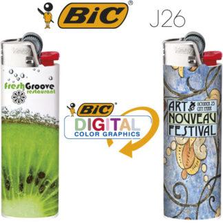 Mecheros publicidad BIC J26 Digital Wrap