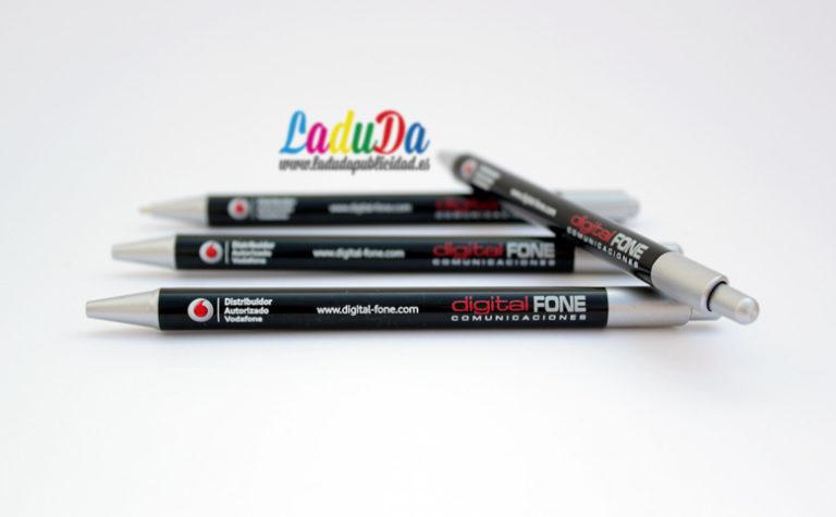 Bolígrafos con impresión digital directa a todo color para Digital Fone