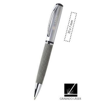 Bolígrafo metálico Tecma cuerpo acabado en tela