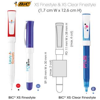 Bolígrafos BIC XS Finestyle