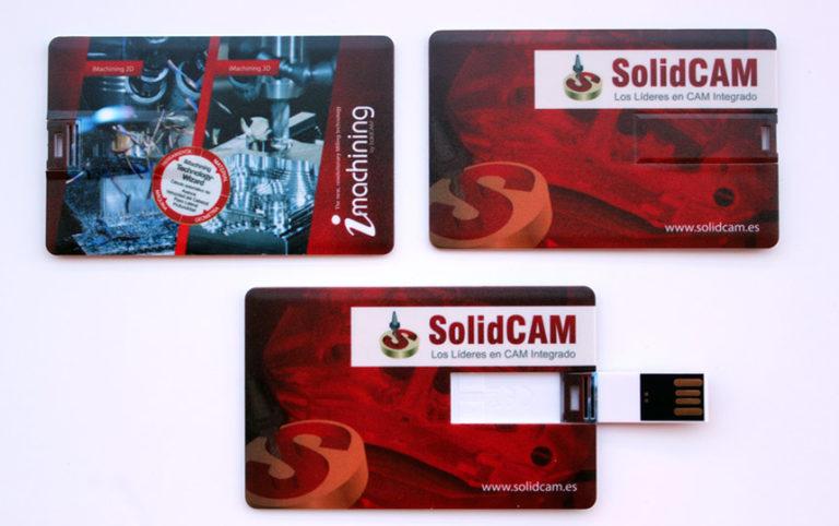 Tarjetas USB personalizadas a todo color para SolidCAM