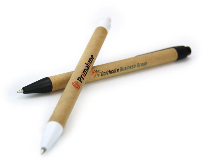 Bolígrafos Eco cartón con impresión digital a todo color