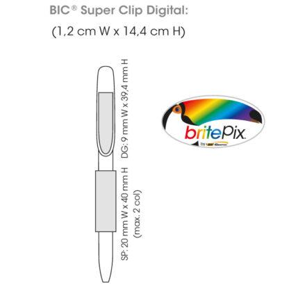 Área de impresión Bolígrafos BIC Super Clip Digital