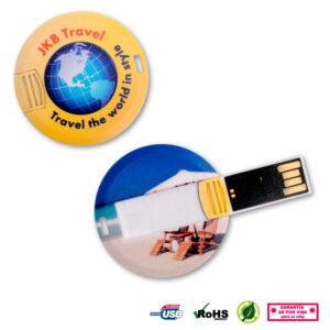 Memoria USB redonda coin card