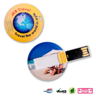 Memoria USB redonda coin card