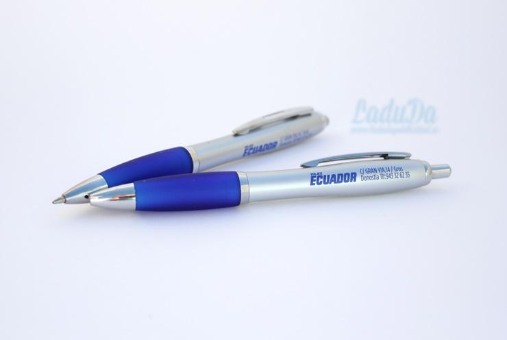 Bolígrafos de publicidad Slim para Viajes Ecuador Donostia