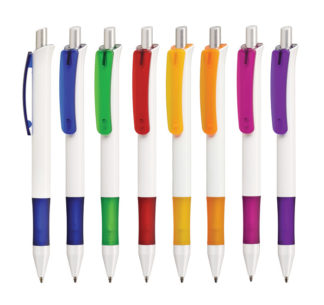 Bolígrafos personalizados Madrid Festo White