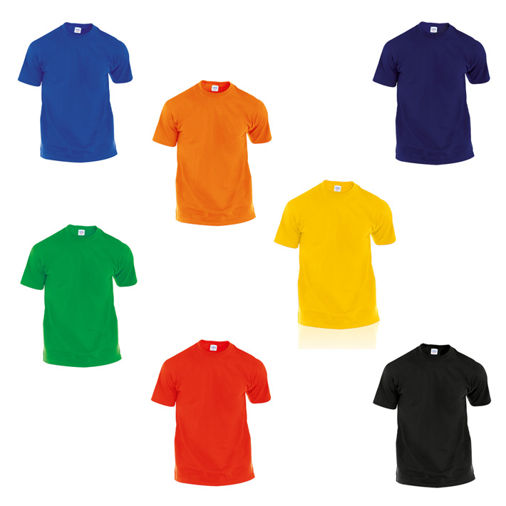 Camisetas publicitarias baratas hecom color 100 algod n for Gama de colores vivos