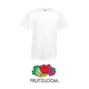 Camiseta Fruit of the Loom Heavy-T blanca