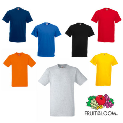 Camiseta Fruit of the Loom Heavy-T color