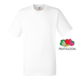 Camiseta Heavy T blanca fruit of the loom