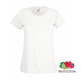 Camiseta valueweight mujer blanca