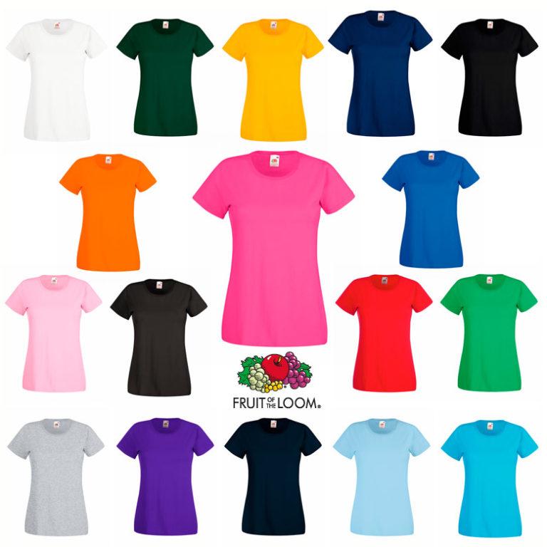 Camiseta valueweight mujer Fruit of The Loom