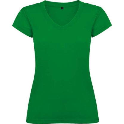 camiseta de mujer de pico personalizada verde tropical