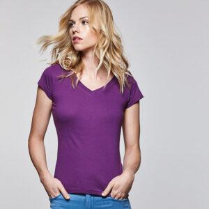 Camiseta mujer cuello pico Victoria