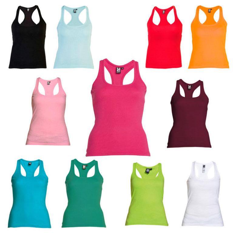 2dc61bae3620e Camiseta mujer tirantes espalda nadadora Roly Carolina