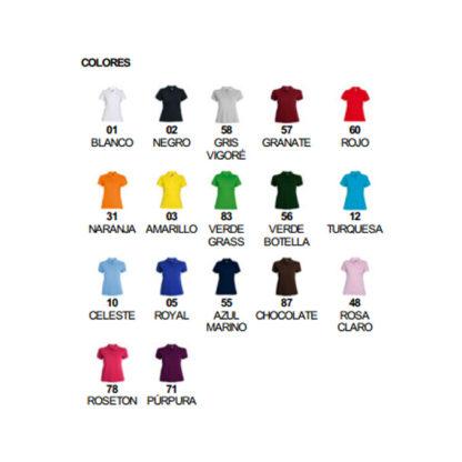 Colores polo mujer Estrella