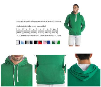 Detalle sudaderas con capucha bicolor Urban