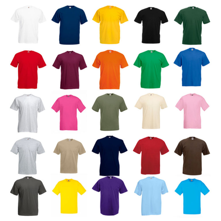 Colores camiseta valueweight magan corta hombre Fruit Of The Loom