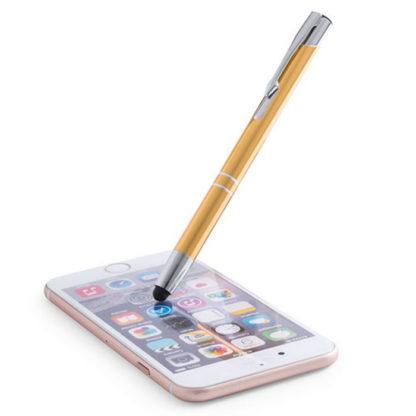 Bolígrafos metálicos con puntero para móviles Mitch grabado láser