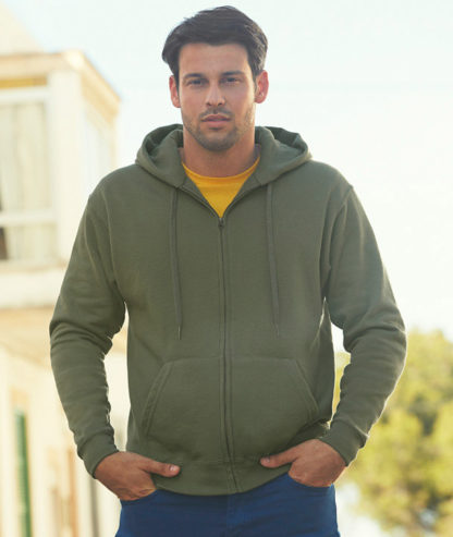 Sudadera con capucha y cremallera Premium Fruit of the Loom