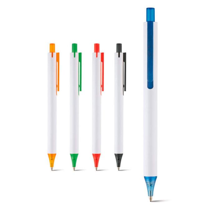 Bolígrafos publicitarios Mila blanco
