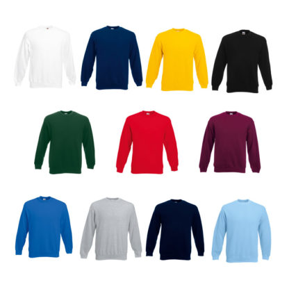 Colores sudaderas fruit of the loom classic