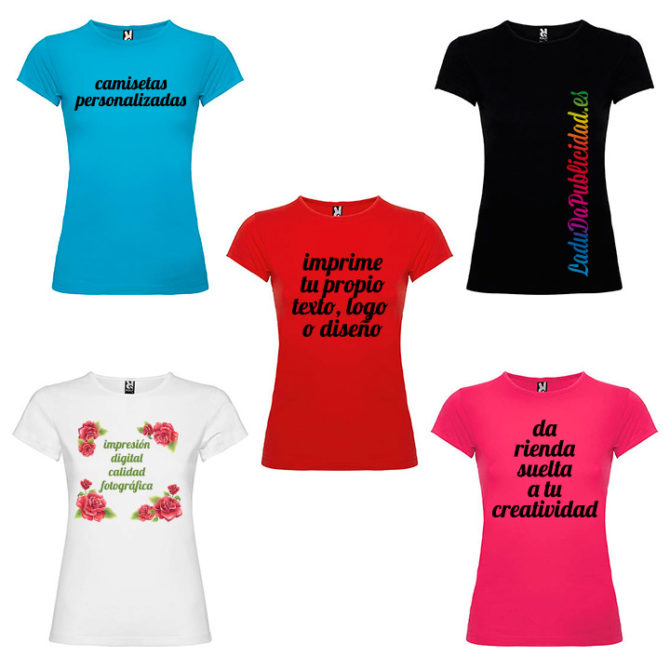Colores camiseta personalizada mujer Bali