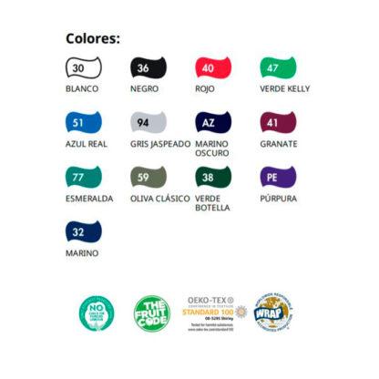 Colores y certificados sudadera raglan classic Fruit of the Loom