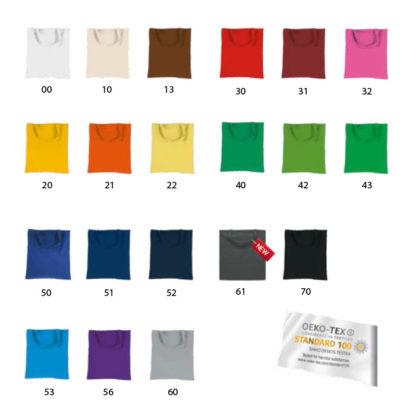 Colores bolsas personalizadas asa corta kapstadt