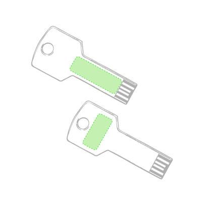 Área de grabado memoria usb tipo llave Fixing
