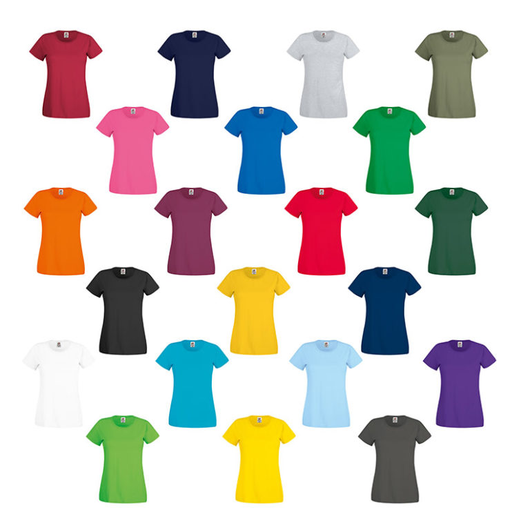 Colores camiseta original T mujer Fruit Of the Loom