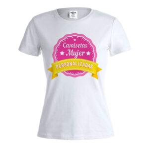 Camiseta blanca mujer personalizada Keya WCS150
