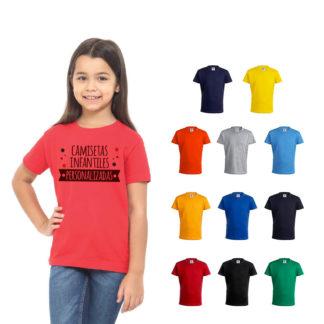 Camisetas infantiles personalizadas Keya YC150