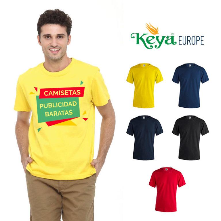7b9a1279f Camisetas publicidad baratas color Keya MC130 con tu logo en serigrafía